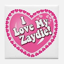 I Love My Zaydie Tile Coaster