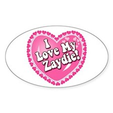 I Love My Zaydie Oval Decal