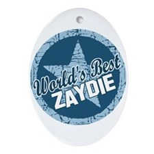 Worlds Best Zaydie Oval Ornament