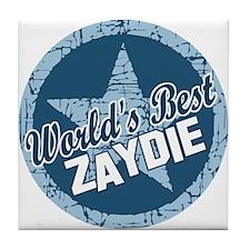 Worlds Best Zaydie Tile Coaster