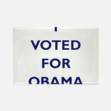 I Voted for Obama Rectangle Magnet