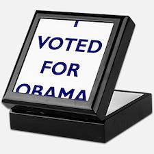 I Voted for Obama Keepsake Box