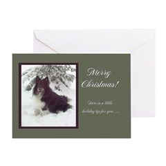 Tri-Color Sheltie Greeting Card
