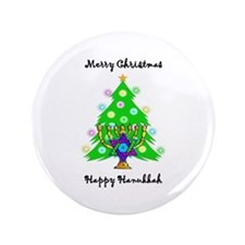 """Hanukkah and Christmas Interfaith 3.5"""" Button"""