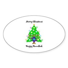 Hanukkah and Christmas Interfaith Decal
