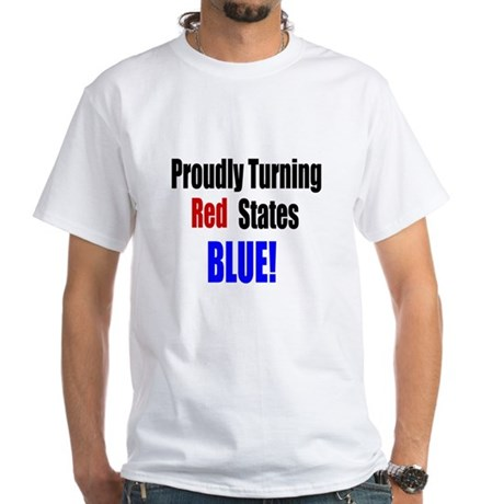 Turning Red States Blue White T-Shirt