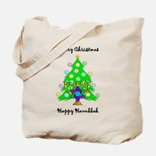 Hanukkah and Christmas Interfaith Tote Bag