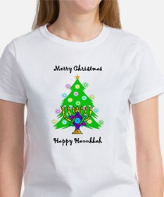 Hanukkah and Christmas Interfaith Women's T-Shirt