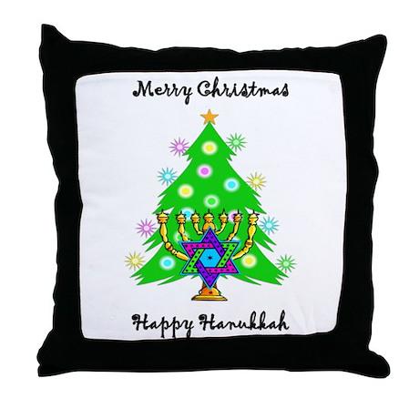 Hanukkah and Christmas Interfaith Throw Pillow
