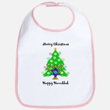 Hanukkah and Christmas Interfaith Bib