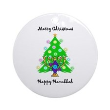 Hanukkah and Christmas Interfaith Ornament (Round)