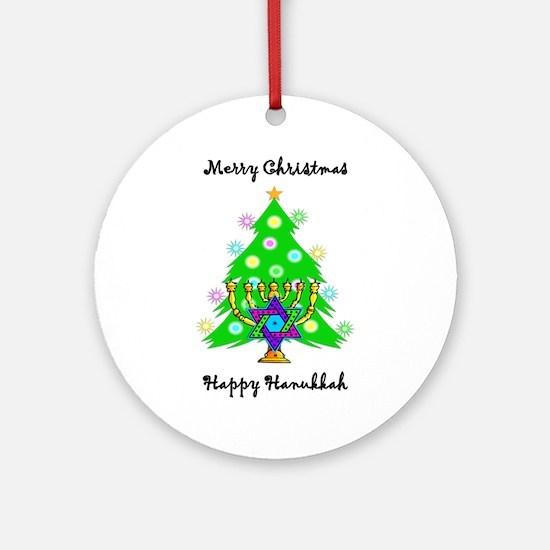 Hanukkah and Christmas Interfaith Ornament (Round)