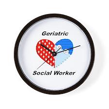 Geriatric Social Worker Wall Clock