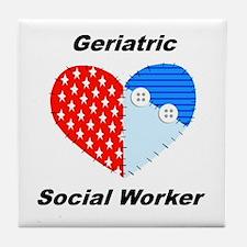 Geriatric Social Worker Tile Coaster