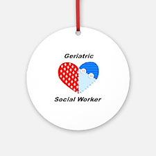 Geriatric Social Worker Ornament (Round)