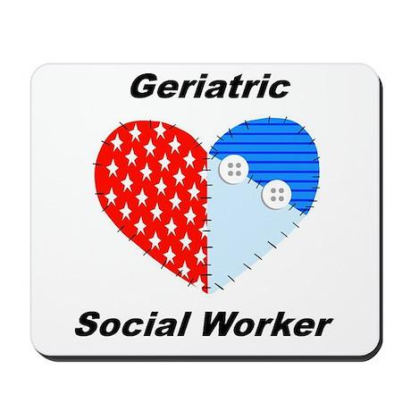 Geriatric Social Worker Mousepad