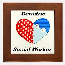 Geriatric Social Worker Framed Tile