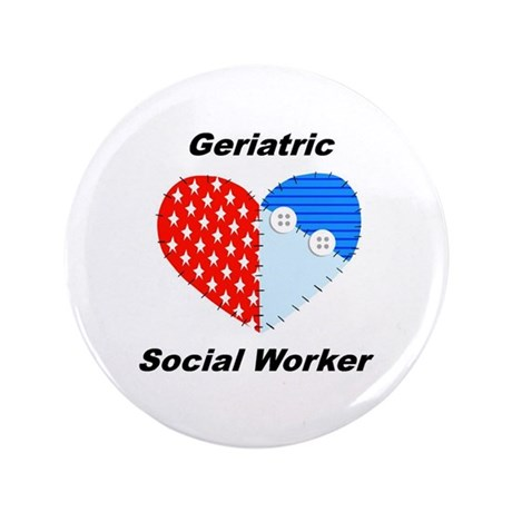 "Geriatric Social Worker 3.5"" Button (100 pack"