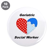 "Geriatric Social Worker 3.5"" Button (10 pack)"