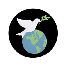 "Peace On Earth 3.5"" Button"