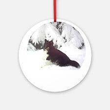 Tri-Color Sheltie Ornament (Round)