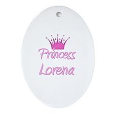 Princess Lorena Oval Ornament