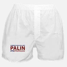 Palin American Values Boxer Shorts