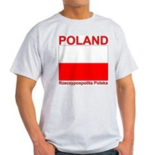 Polish Flag Polska Ash Grey T-Shirt