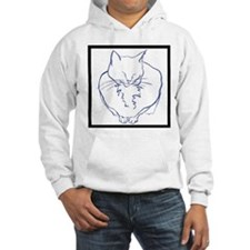 Contented Cat with Border Hoodie
