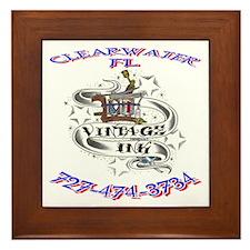 Vintage Ink Tattoos Classic Logo Framed Tile