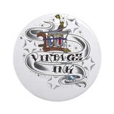 Vintage Ink Ornament (Round)