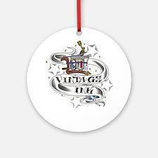 Vintage Ink Ornament (Round)