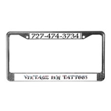 Vintage Ink License Plate Frame
