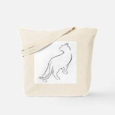 Cat Looking Over Shoulder Tote Bag