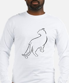 Cat Looking Over Shoulder Long Sleeve T-Shirt