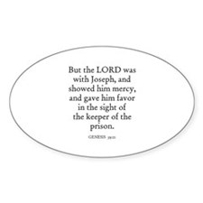 GENESIS 39:21 Oval Decal