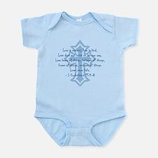 1 corinthians love is patient Infant Bodysuit