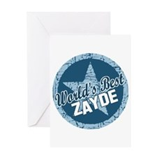 Worlds Best Zayde Greeting Card