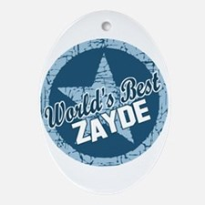 Worlds Best Zayde Oval Ornament
