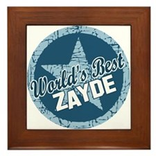 Worlds Best Zayde Framed Tile