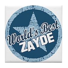 Worlds Best Zayde Tile Coaster