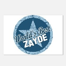 Worlds Best Zayde Postcards (Package of 8)