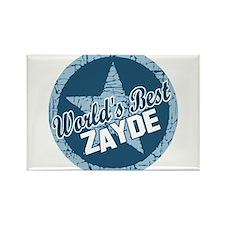 Worlds Best Zayde Rectangle Magnet