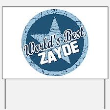 Worlds Best Zayde Yard Sign