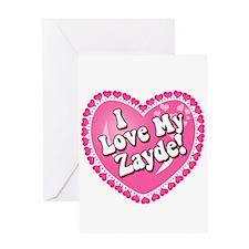 I Love My Zayde Greeting Card