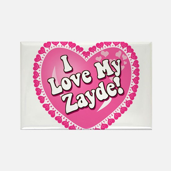 I Love My Zayde Rectangle Magnet