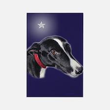 Greyhound-Bingo Star Rectangle Magnet