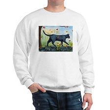 Cat Walking On Rock Wall Sweatshirt