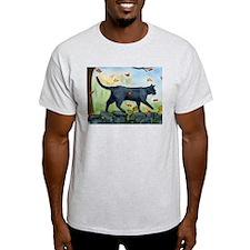 Cat Walking On Rock Wall T-Shirt