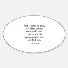 GENESIS 39:18 Oval Decal
